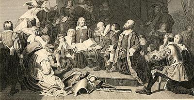 pilgrims in plymoth